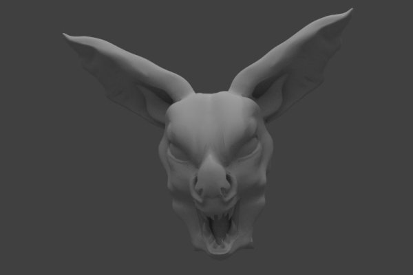 Bat Head – Rendered