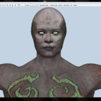 Abyss Demon – better texture seams (Blender's projection painting did the trick)