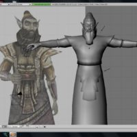 Dwemer Statue in Blender (using a render of a Dwarven Spectre from Morrowind as inspiration)