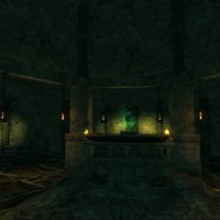 Sanctuary – altar room with Sacred Skull (the skull is inspired by the Skull of Gul'Dan from World of Warcraft)